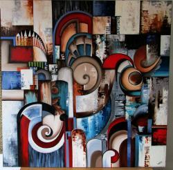 Picturi abstracte/ moderne Fibonacci Way