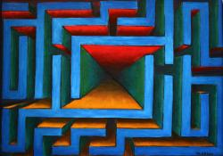 Picturi abstracte/ moderne Labirint statornicie