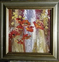 Picturi abstracte/ moderne Averse cu maci