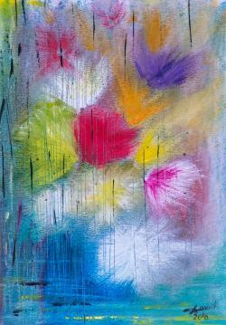Picturi abstracte/ moderne ca o ploaie de vara