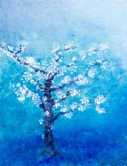 Picturi abstracte/ moderne livada albastra
