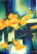Picturi abstracte/ moderne Flori galbene