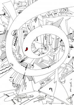 Picturi abstracte/ moderne Spirala de Timp. Cheia Fa