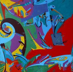 Picturi abstracte/ moderne Vibrating red quark