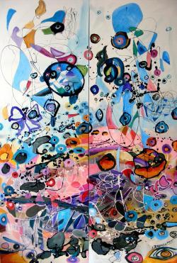 Picturi abstracte/ moderne Baloane de sapun