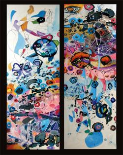 Picturi abstracte/ moderne Baloane de sapun in alta pozitie