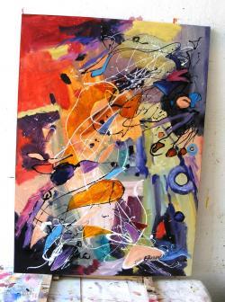 Picturi abstracte/ moderne Copilul timpului