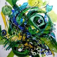 Picturi abstracte/ moderne Craiul verde
