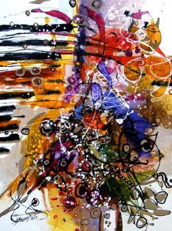 Picturi abstracte/ moderne Evadare prin cetatea Belovari