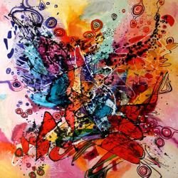 Picturi abstracte/ moderne Fluturi la fluturi