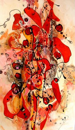 Picturi abstracte/ moderne Magic red