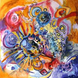 Picturi abstracte/ moderne O stea cu infinite raze