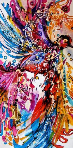 Picturi abstracte/ moderne pasarea phoenix 1