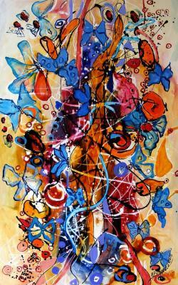 Picturi abstracte/ moderne Perdea de fluturi