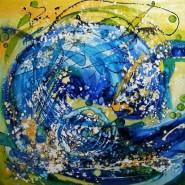 Picturi abstracte/ moderne Povestea unui val