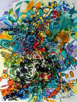 Picturi abstracte/ moderne Simfonia primaverii 1