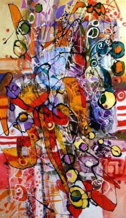 Picturi abstracte/ moderne Timp vinovat