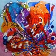 Picturi abstracte/ moderne Un clovn si povestea lui