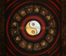 Picturi abstracte/ moderne Energie yin yang