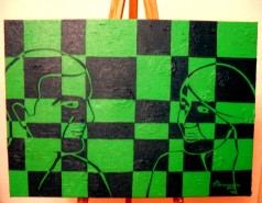 Picturi abstracte/ moderne The green one - labyrinth of young minds