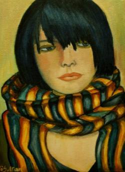 Picturi abstracte/ moderne Femeie cu sal