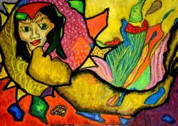 Picturi abstracte/ moderne Sirena