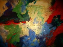 Picturi abstracte/ moderne Golden divider