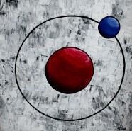 Picturi abstracte/ moderne The atom