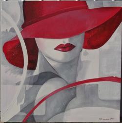 Picturi abstracte/ moderne Rosu senzual