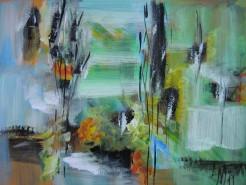 Picturi abstracte/ moderne Peisaj de primavara
