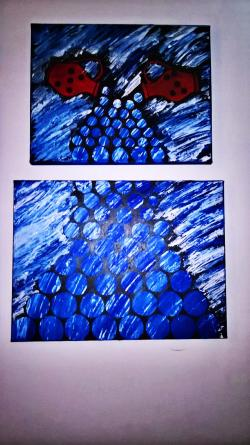 Picturi abstracte/ moderne Blue aquarius