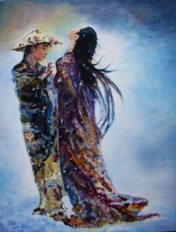 Picturi abstracte/ moderne Dansul fulgilor