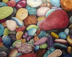 Picturi abstracte/ moderne Pietre colorate