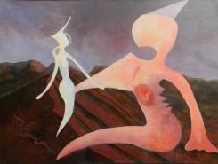 Picturi abstracte/ moderne Mi-e dor de sarutarea ta