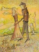Picturi abstracte/ moderne Miri in galben