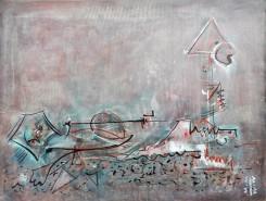 Picturi abstracte/ moderne Scapat de crocodil
