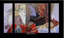 Picturi abstracte/ moderne 2 triptic  templierul