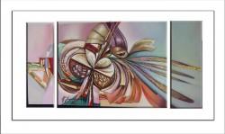 Picturi abstracte/ moderne  triptic---culoarul labirintului