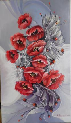 Picturi cu flori ABSTRACT 55M