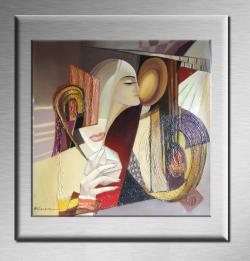Picturi abstracte/ moderne Dedublarea sufletului-ABSTRACT--R11