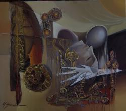 Picturi abstracte/ moderne agonie si extaz 88k11