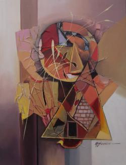 Picturi abstracte/ moderne chip cu ochi de zei--7hg
