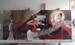 Picturi abstracte/ moderne chipuri cu miscari gratioase 00k