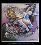 Picturi abstracte/ moderne Danseaza in straie lunare