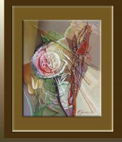 Picturi abstracte/ moderne flori in gradina sacra-5vc