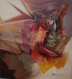 Picturi abstracte/ moderne lumea misterelor--j55