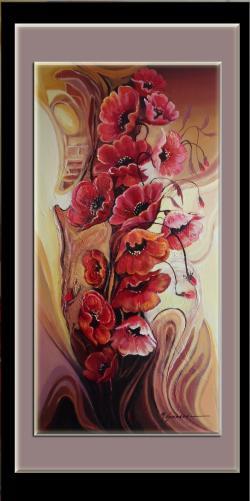 Picturi cu flori maci--8er