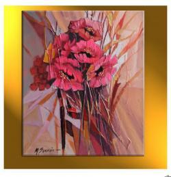 Picturi cu flori maci-  u1134