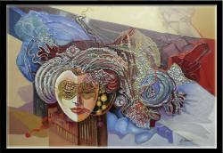 Picturi abstracte/ moderne masca venetiana in metropola viselor  6y