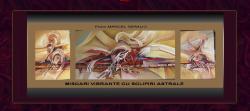 Picturi abstracte/ moderne miscari vibrante cu sclipiri astrale -- h000